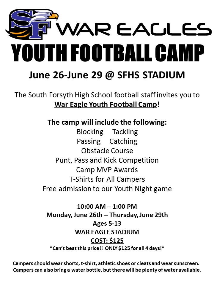 War Eagle Youth Football Camp | South Forsyth War Eagles